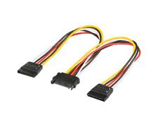 0,2m PC Stromkabel Y-Kabel SATA Kupplung auf 2x SATA Stecker PC Computer Strom