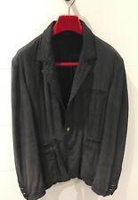 ROBERTO CAVALLI Class Charcoal Cotton-Silk Blend Casual Jacket - Mens Size 52 EU