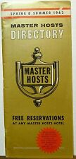 1962 Master Hosts Hotel Directory Spring and Summer directory brochure b