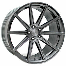 "(4) 20"" Staggered Stance Wheels SF09 Brushed Dual Gunmetal Rims(B31)"