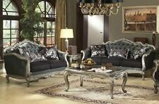 French Rocco Tufted 2pc Sofa & Loveseat Traditional Couch Luxurious Living Room