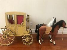 American Girl Doll Felicity Colonial Carriage With 2 Horses