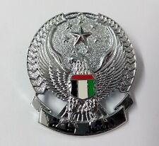 More details for genuine british made uae united arab emirates metal dress hat badge  gim93
