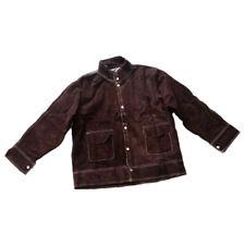 Welding Work Jacket Flame-Resistant Cowhide Leather Welding Coat Suits -Xxl