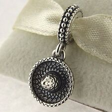 Authentic Pandora 791364 Sombrero Hat Dangle Sterling Silver Bead Charm