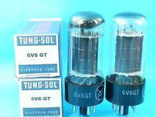 TUNG SOL 6V6  VACUUM TUBE BLACK PLATE 1958 MATCHED PAIR SWEET RAUNCHY TONE