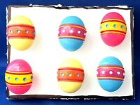 EASTER EGG with DOTS - Set of 6 Handmade Memo Board Magnets
