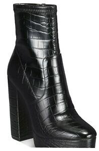 ALDO Womens Black Platform Heel Ankle Booties  Sz 9 NWT