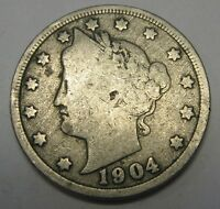 1904 Liberty V Nickel in the GOOD Range A Great Filler Coin DUTCH AUCTION