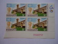 Barbados QEII 1970 SG418 50c Block of 4 MNH 25th Anniv of UN University Building
