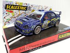 """Slot SCX Scalextric 6111 Subaru Impreza WRC """"Efecto Nieve"""" Nº10 - New"""