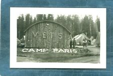 Champaign County,OH-CCC CAMP PARIS w TENTS,QUONSET HUT for WW1 VETS-1930s RPPC