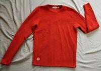 Lacoste Men's Orange Sailing Club Waffle Knit Jumper Size FR 4 US M - Good Used