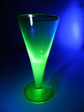URANGLAS ° Trinkglas 19tes Jahrhundert ° wie Lauensteiner Barockglas