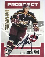 JORDAN STAAL SIGNED ITG HEROES AND PROSPECTS ROOKIE CARD AUTOGRAPH AUTO!!!