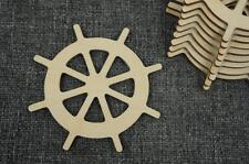 10 Stk. Schiff Lenkrad Ruder Holz Basteln  Meer Verschönerung Wasserwelt /PV57/