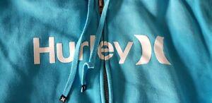 Lovely blue Hurley full zip hoodie - Large