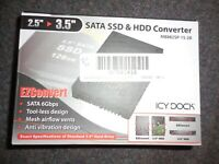 "IcyDock EZConvert MB882SP-1S-2B 2.5"" to 3.5"" Solid State Drive Adapter"
