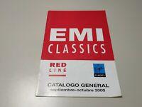 0120- EMI CLASSICS RED LINE CATALOGO GENERAL SEP/OCT 2000 24 PAGINAS