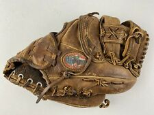 "Vintage Nokona AMG 100-OW RHT 11"" Leather Baseball Glove Mitt Made in USA"