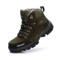 Mens Breathable Non-slip High-top Shoes Waterproof Climbing Hiking Boots Sneaker