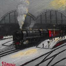 Original BEST Oil Painting Noted Artist James Downie Manchester Victoria Station