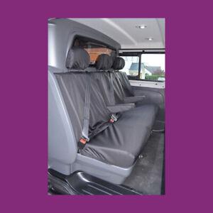 Fiat Talento Crew Cab SX 2016+ Tailored Waterproof Rear Black Seat Covers