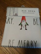 NWT! Rae Dunn Shower Curtain Liner Christmas Gnomes BE MERRY🎄Mildew Resistant