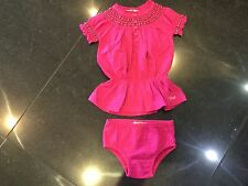 Juicy Couture New & Genuine Baby Girls Pink Cotton Dress & Pants Age 6/12 MTHS