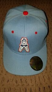 Vintage 90's Houston Oilers Hat Fitted (7)3/4 *Starter*,stickers,Slobbys World