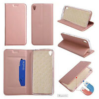 For Sony Xperia L1 Magnetic Flip PU Leather Wallet Soft Clean Case Cover Stand