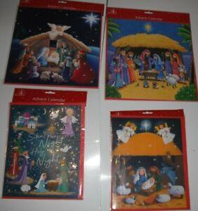Advent Calendar Traditional Nativity Christmas Countdown Children Gift.