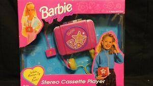 Barbie For Girls Portable Stereo Cassette Player Mattel 1993 NEW IN BOX