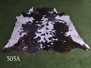 """New Cowhide Rugs Hair On COW HIDE Rugs Area Cow Skin Leather Rugs (56"""" x 53"""")"""
