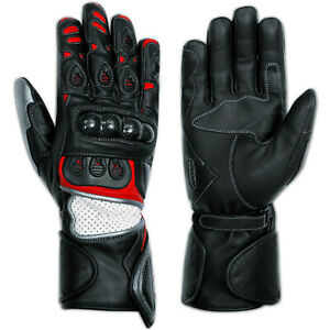 Protective Summer Racing Quality Motorcycle Biker Leather Gloves A-pro