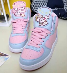 Little Twin Stars Inspired Shoes Kawaii Pastel Cartoon Angel Round Flat Sneakers