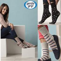 Gentle Grip - 6 paires femme coloré bambou chaussettes sans elastique 37-42 eur