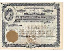 THE KINGSTON AND LAKE KATRINE RAILWAY COMPANY (NY)....UNISSUED STOCK CERTIFICATE