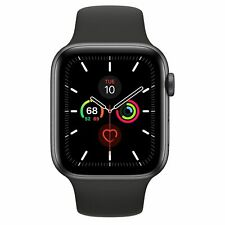 APPLE Watch Series 5 44 mm Space Grey Aluminium Case with Black Sport Band GPS