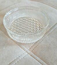 Vintage Clear Glass Fluted Round Candy Nut Dish Bowl Trinket