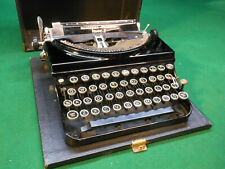 Vintage Remington Rand Portable Model 5 Black Portable Typewriter with Case EX