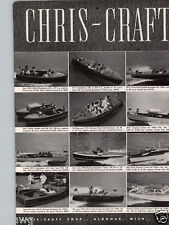 1940 PAPER AD 2 PG Cris Craft Motor Boat Runabout Sport Cruiser Double Cabin