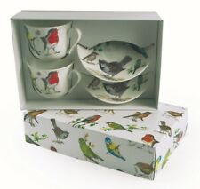 Roy Kirkham Garden Birds Bone China Cup & Saucer Set of 2 Gift Boxed Nature New