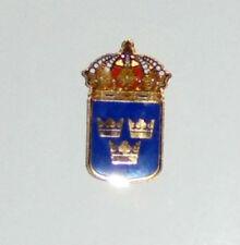 Sweden Swedish Empire Royal Heraldry Crown Crest Order Seal Vasa Pin Tac Hat Cap