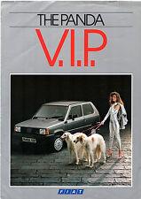 FIAT PANDA 45 VIP. EDIZIONE limitata 1985 UK Opuscolo Vendite sul mercato