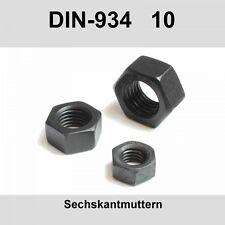 M8 DIN 934-10 10. Sechskantmuttern Stahl blank Muttern Sechskant-Mutter 20-500St
