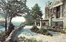 HADLYME, CT Connecticut GILLETTE CASTLE Terrace~River View  TWO Chrome Postcards