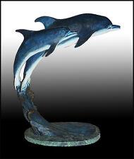 Laran Ghiglieri BRONZE SCULPTURE Authentic Signed Original Dolphin Statue Art