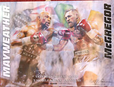 Floyd Mayweather vs Conor McGregor Fight Poster UFC vs Boxing, 8-26-17 Vegas