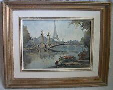 view of Paris oil painting by M.Janpol
